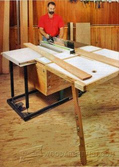 Knock-Down Outfeed Table Plans - Table Saw Tips, Jigs and Fixtures - Woodwork, Woodworking, Woodworking Plans, Woodworking Projects