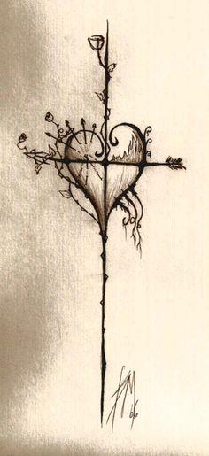 cross tattoo tattoos-piercings