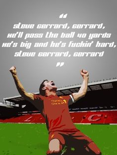 Steven Gerrard - to tune of Que Sera Sera. Liverpool Logo, Liverpool Football Club, Football Love, Football Baby, Football Bedroom, Stevie G, Liverpool Fc Wallpaper, Premier League Soccer, You'll Never Walk Alone