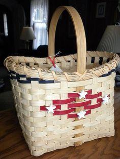 Handmade Patriotic Woven Basket by WeavingsByPat on Etsy, $38.00