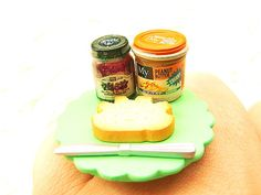 Miniature Food Ring Peanut Butter Blueberry  by SouZouCreations, $15.00