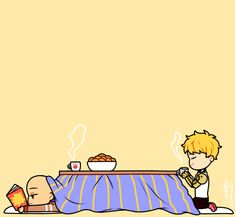 """laffforever: """" wintertime with genos and saitama (tumblr ruined the quality so just click on the images!) """""""