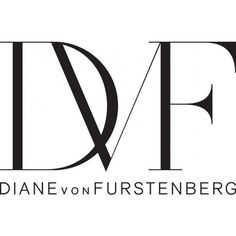 Diane von Furstenberg Logo ❤ liked on Polyvore featuring logo, text, words, quotes, backgrounds, filler, magazine, phrase and saying