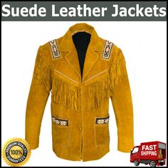 Suede Western Leather Jacket With Fringe Native American Coat Best Quality.......... This jacket is made of suede Leather Western Style with Fringe..................More Details = Whats app = 00923046128675..............................................................MAS_Group Has a Wide Range of Leather Products that will fulfill all Our Customers' Needs. We Guarantee the Satisfaction of our Products Through Quality Service, Low Prices, Best Quality, Fast & Safe Delivery. Western Cowboy, Western Style, Leather Products, Leather Jackets, Suede Leather, Westerns, Native American, Delivery, Range