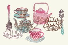 Mad Tea Party by Gabee Meyer, via Behance