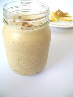 Make-ahead apple, oatmeal and peanut butter smoothies. Put them in Mason jars in the fridge and you have breakfast for the whole week:    What You Need        ½ cup uncooked quick oats      1½ cup plain non-dairy milk      2 tablespoons peanut butter      2 cups chopped apples      ½ teaspoon cinnamon (more if desired)    Directions        Put all ingredients in a blender and blend until smooth. If you want a thicker smoothie, add more oatmeal.