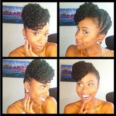 Natural hair updo with braid-out bang Pelo Natural, Natural Hair Updo, Natural Hair Journey, Natural Hair Care, Natural Hair Styles, My Hairstyle, Cool Hairstyles, Black Hairstyles, Twisted Hair