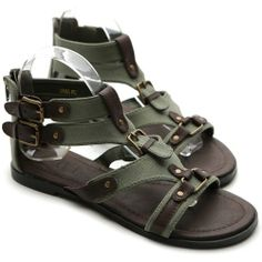 Ollio Womens Shoes Gladiator Sandals Flats Strappy Adjustable Buckle Ankle Straps Accent Back Zipper Closure Size (5.5 B(M) US, Khaki) Ollio,http://www.amazon.com/dp/B00CIZCL5C/ref=cm_sw_r_pi_dp_PQensb177DE7XCNT