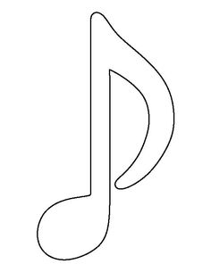 Musical note pattern. Use the printable outline for crafts, creating stencils, scrapbooking, and more. Free PDF template to download and print at http://patternuniverse.com/download/musical-note-pattern/