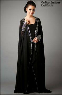 Abaya haute gamme traditionnelle, robe longue orientale pour les femmes chic qui cherchent l'excellence, Abaya deux pièce de tendance pour l'année 2014.