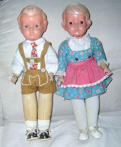 RAR 2 alte aussergewöhnliche Schildkrötpuppen Hans und Inge um 1940 Ringhals | eBay
