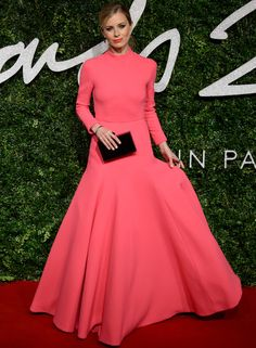 Laura Bailey en los British Fashion Awards 2014