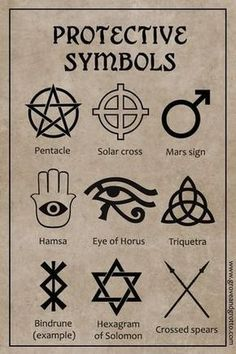 Protective magick is probably the most basic of all types of spellwork. If you don't feel safe and secure, it's difficult to enjoy any of the pleasures of life. symbol Magickal symbols of protection Witchcraft Symbols, Witch Symbols, Witchcraft Spell Books, Occult Symbols, Magic Symbols, Symbols And Meanings, Spiritual Symbols, Ancient Symbols, Wiccan Protection Symbols