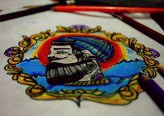 Sailor design tattoo
