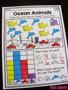 Graphing and data analysis worksheets activities and math centers that are differentiated and FUN!