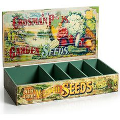 Unique Gift Containers - Vintage Vegetable Seed Tray