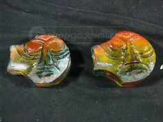 Pair of Kosta Boda Art Glass Paperweights Signed