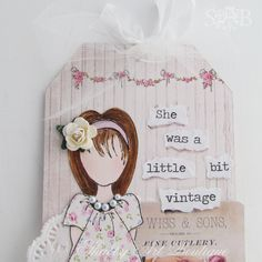 Shabby art Boutique vintage girls 3