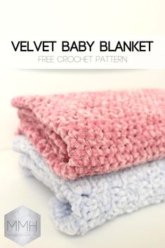 Free Crochet Pattern Velvet Baby Blankets Free Crochet Pattern Velvet Baby Blankets,Crochet for Baby Free Crochet Pattern Velvet Baby Blankets There are images of the best DIY designs in the world. Some images have. Crochet Baby Blanket Free Pattern, Easy Crochet Blanket, Blanket Yarn, Baby Girl Crochet, Crochet Blanket Patterns, Free Crochet, Crochet Afghans, Crochet Crafts, Crochet Ideas