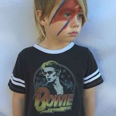Limited edition #davidbowie tee now at www.kamarikids.com. We will also have it with us at 'The Market' where we will be Friday Saturday and Sunday at 159 Bleeker street NYC. Hope to see you there! #rowdysprout #limitededition