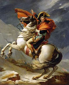 Napoleon Crossing the Alps by Jacques-Louis David. Museum of Palace of Versailles