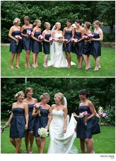 The girls! Jenny Yoo bridesmaid dresses from Flair Brides + Bridesmaids in Boston, MA