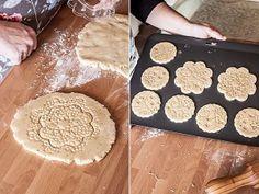 Como hacer galletas grabadas