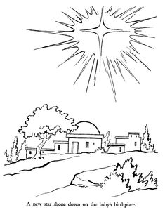Religious Christmas Bible Coloring Pages