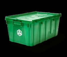 A green MakeSpace Local           bin for on demand storage in New York City, Chicago, and Washington DC.