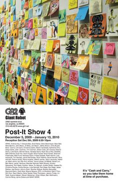 A post-it art show for kids -- how fun!
