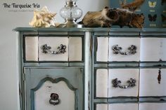 ReDesign. ReStyle. RePeat.: Vintage French Provincial Triple Dresser in Moody Blues