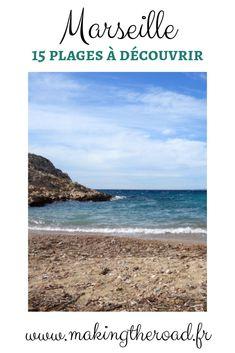 Découvrez mes 17 plages préférées pour se baigner et visiter Marseille. Des calanques au plages de sable avec une carte et des conseils d'accés. #marseille #plage #calanques Road Trip, Destinations, Voyage Europe, Destination Voyage, Blog Voyage, Beach, Water, Outdoor, France Vacations