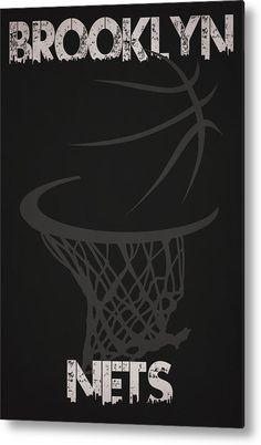 Nets Metal Print featuring the photograph Brooklyn Nets Hoop by Joe Hamilton