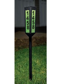 Solar Powered Home Address Sign Yard Stake | Around the House ... on