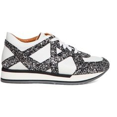 JIMMY CHOO 'London' sneakers with glitter details ($460) ❤ liked on Polyvore featuring shoes, sneakers, jimmy choo trainers, glitter shoes, jimmy choo sneakers, glitter sneakers and jimmy choo shoes