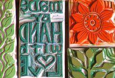 Geninne Zlatkis carved stamps