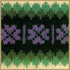Shetlandmuster    Shetlandmuster werden mit mehr als einer Farbe gearbeitet    In vielen Shetlandmustern wird mit mehr als einer Farbe gearbeitet. Die Farben sind von hell bis dunkel abgestuft, so daß ein Schatteneffekt entsteht