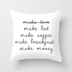 Make Love Pillow Funny Pillow Make Bed Pillow His and Hers Pillows throw pillows funny pillow funny guest room pillow boss babe pillow cover by HuntleighCo on Etsy https://www.etsy.com/listing/253259019/make-love-pillow-funny-pillow-make-bed