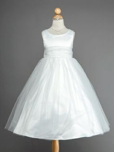 Choice 5 - Gorgeous Satin and Tulle Flower Girl Dress