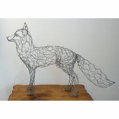 Wire fox - I'd love to make this but chicken wire is a bitch to work with.: