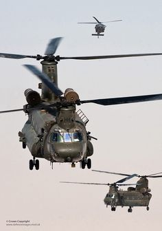 RAF Chinook Helicopters Take Off on a Mission Over Helmand, Afghanistan by Defence Images, via Flickr