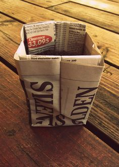 DIY origami newspaper pots for seedlings-- use instead of peat pots
