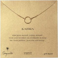 "Dogeared 16"" Karma Necklace, Gold Dipped - Dipped, Dogeared, Gold, Karma, Necklace - http://designerjewelrygalleria.com/dogeared-jewelry/dogeared-16-karma-necklace-gold-dipped/"