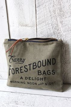 WWII era Canvas Logo Pouch - FORESTBOUND