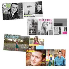 NEW RELEASE! Senior Timeline Cover Templates for the Senior Magazine Style Set!
