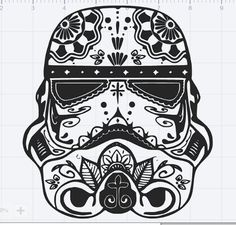 Hey, I found this really awesome Etsy listing at https://www.etsy.com/listing/477464567/star-wars-storm-trooper-sugar-skull