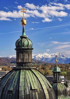 The domes and mountains of Salzburg Salzburg Austria, Mountains, Bergen