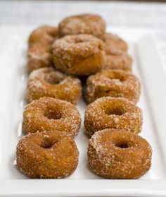 Mini Cinnamon Sugar Pumpkin Spiced Doughnuts & Rosemary Olive Oil Chips — Oh She Glows