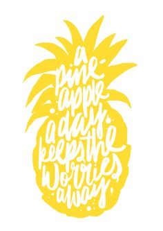 A pineapple a day keeps the worries away (picture by Maiko Nagao) #VD #Mixpiratie #Mixhave
