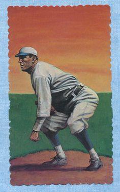 Eddie Plank baseball 1984 RGI Hall of Famers Deckle Edge card #44